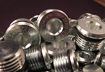 mild steel plugs with clear zinc finish