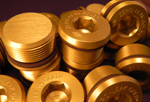 stainless steel plugs with gold anodized plating